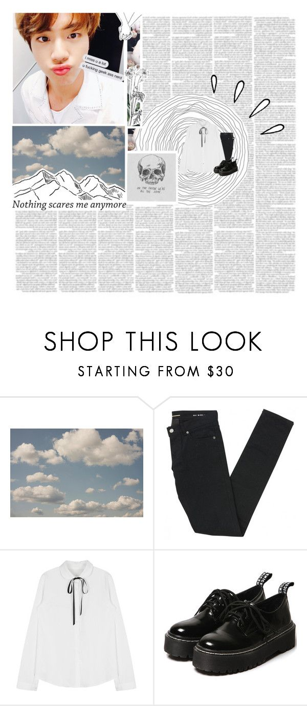 """""""Application   LΞO"""" by hyokko ❤ liked on Polyvore featuring WALL, Old Navy and Yves Saint Laurent"""