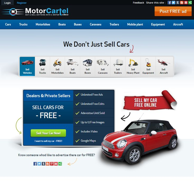 sell your cars free at motorcartels car classifieds
