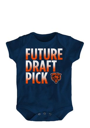 Chicago Bears Baby Navy Blue Future Draft Pick Creeper