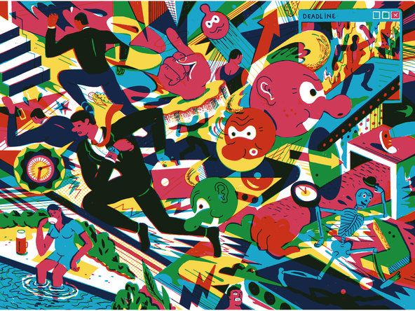 Busy Trap: Illustrations Inspiration, Artillustr 20, Graphics Design, Notabl Opinion, Art 2012, Brecht Vandenbrouck, The Brain, Business Traps, Opinion Art