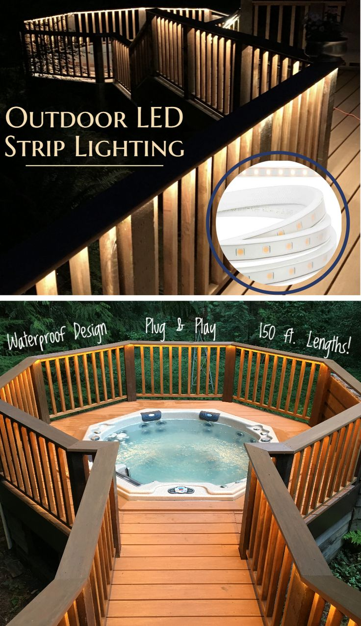Heavy Duty, Waterproof LED strips for use outside your home! Just plug into a 120VAC receptacle and you're good to go! Mounting accessories available!