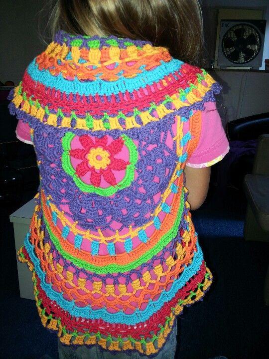 Rond Gehaakt Vest Mijn Projecten Pinterest Crochet