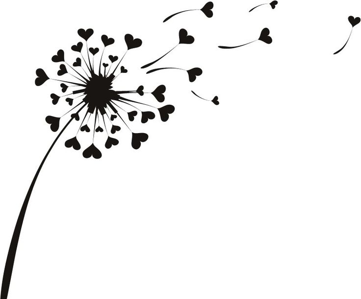 Love Heart Dandelion Wall Sticker