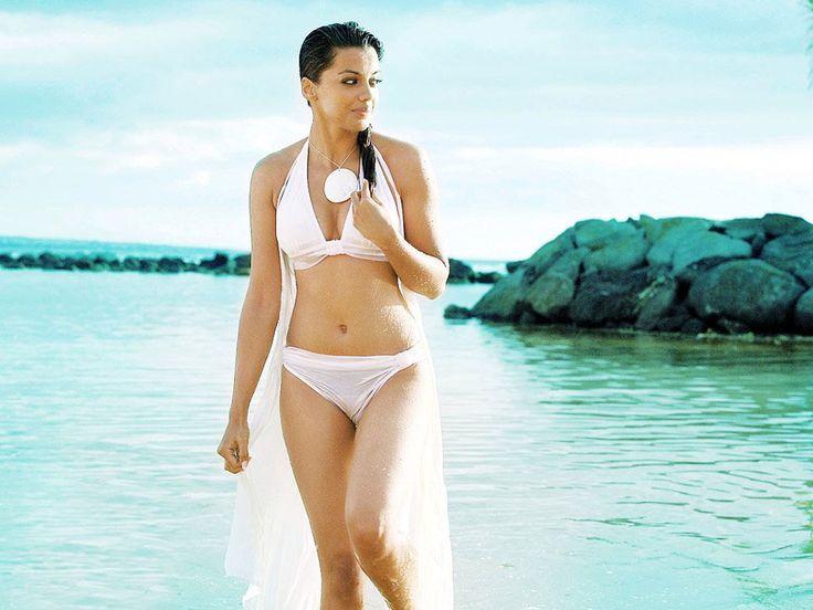 Mugdha Godse Hot Photoshoot in white transparent Bikini.