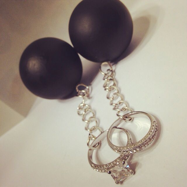 Ball And Chain Wedding Ring