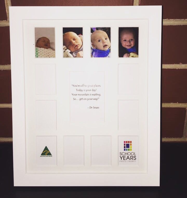 🌟 Baby's  First Year 🌟 Another fabulous use for a School Years Photo frame!! Super cute 😍