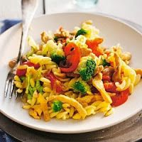 Eet je slank!: Pasta met kip en gegrilde paprika
