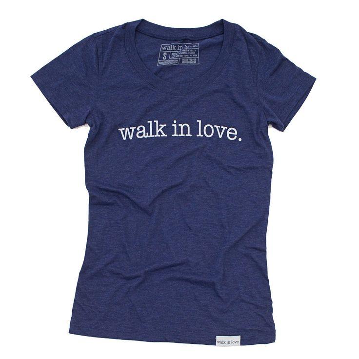 walk in love. Navy Women's T-Shirt | walk in love.