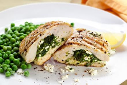 Weigh-Less Online - Grilled Chicken Stuffed With Spinach And Feta
