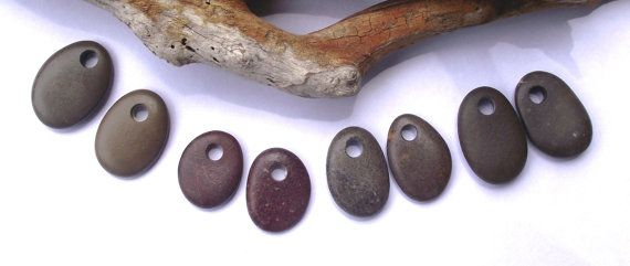 4 Pairs of Top drilled stones. Ear rings.  8 Beach by oceangifts