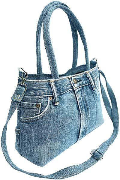 09f6ea2fd966 BDJ Classic Blue Denim Jean Pants Women Top Handle Handbag (3CH-012):  Handbags: Amazon.com