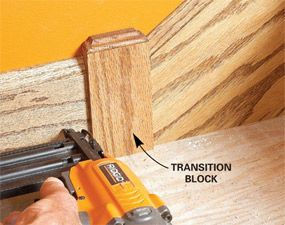 Transition blocks can solve all kinds of challenging molding problems. One of the most common uses for blocks is in old houses where door casing and base meet.
