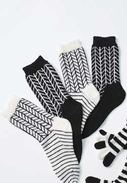 Knit Chevron Socks