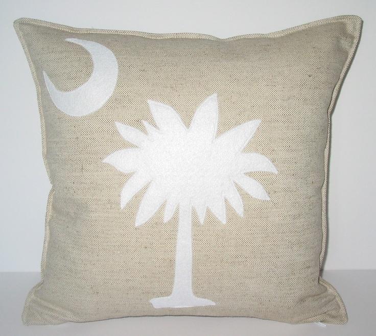 Palmetto Tree and Moon Pillow. $35.00, via Etsy.