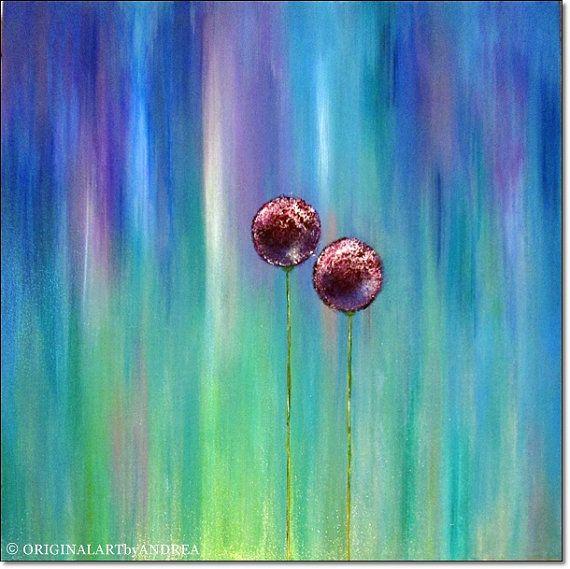 Acryl schilderij Giclee Print Canvas kunst Abstract Floral
