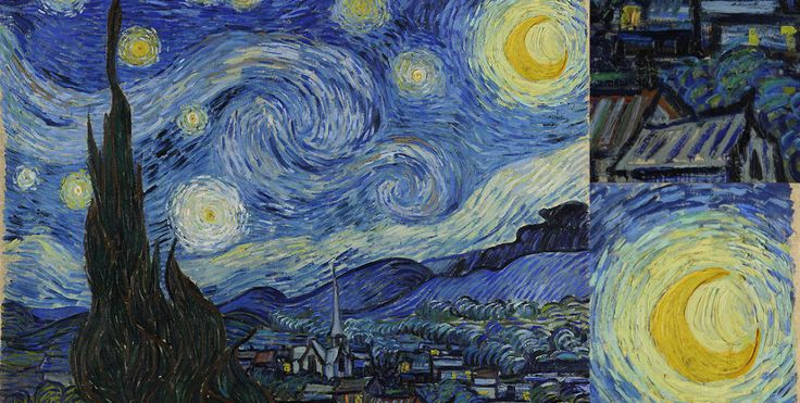 AMAZINGLY DETAILED CLOSE-UPS OF VAN GOGH'S PAINTINGS