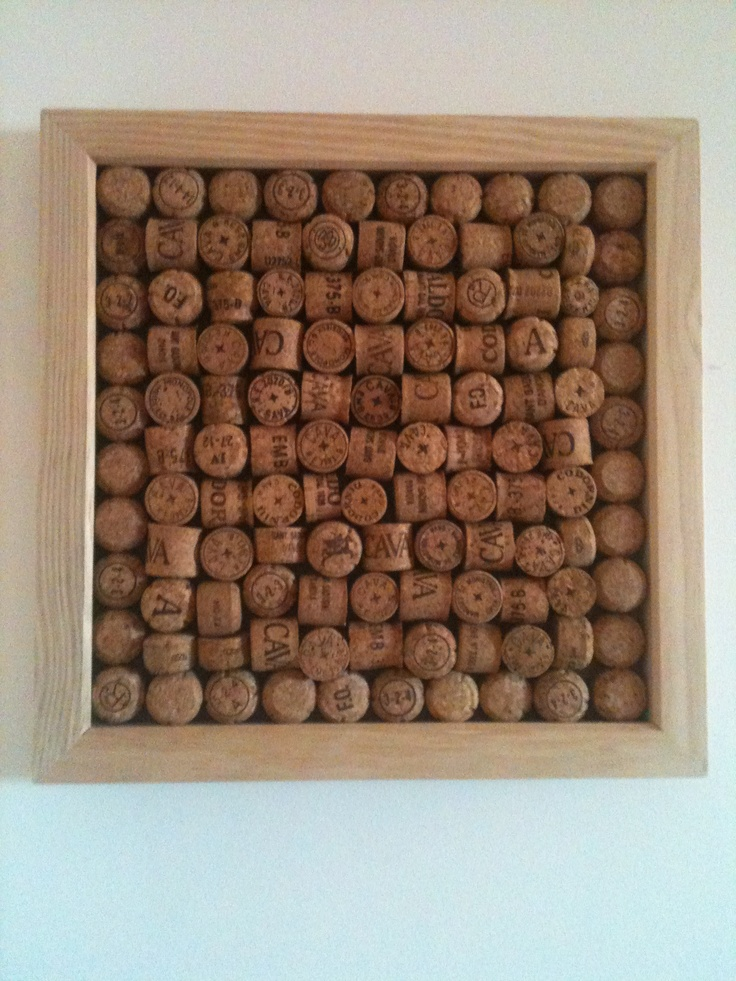 Cork board with wine corks