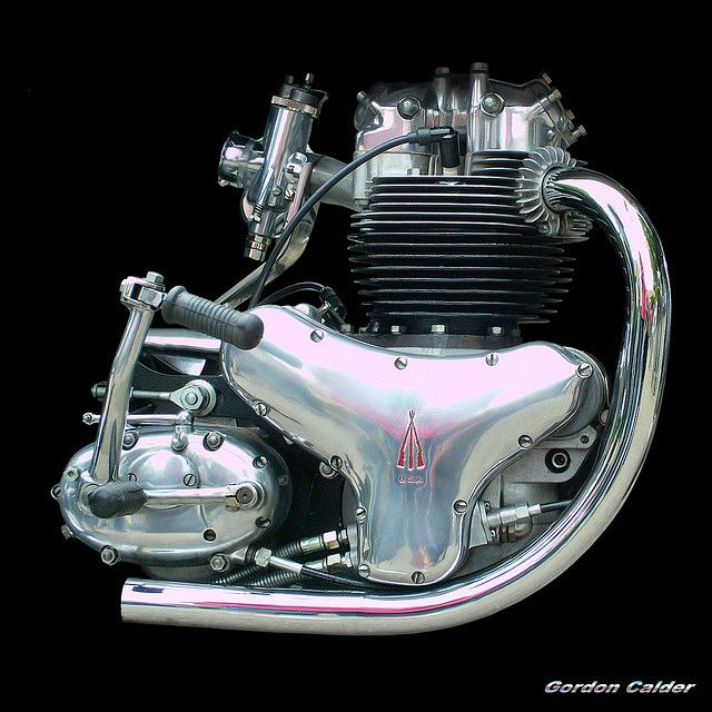 NO 34: CLASSIC BSA A10 SUPER ROCKET MOTORCYCLE  ENGINE by Gordon Calder, via Flickr