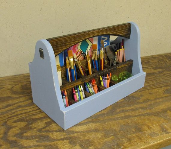 Professional Art Supply Box Crayon Caddy Tool by Smithwick and Co, LLC