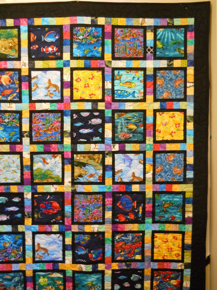 Quilt Guild Demo Ideas : Charity quilt made for Camp Korey by someone in our quilt guild. I like the scrappy sashing ...