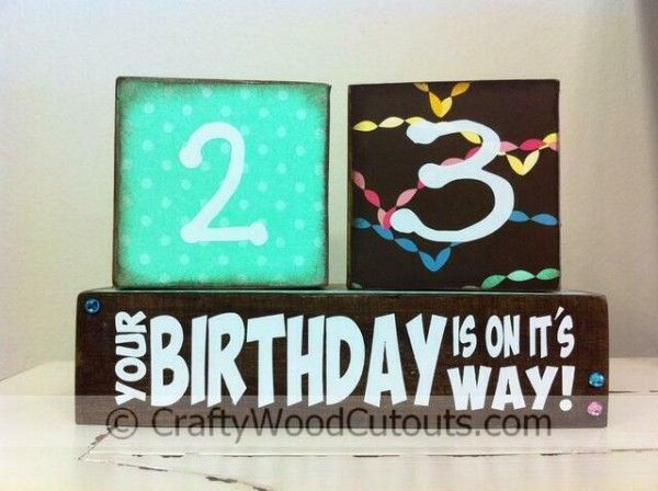 Unfinished Birthday Countdown Calendar Wood Craft. This craft costs $15.59.