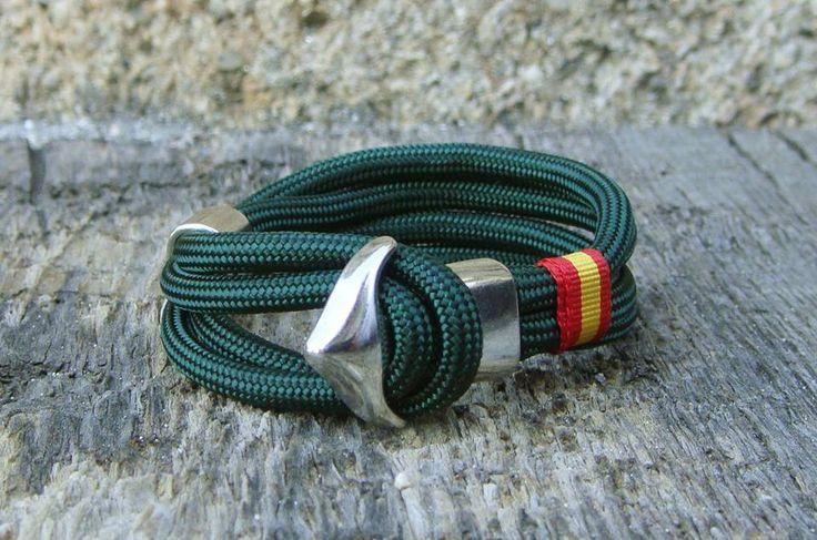 Ancla verde http://www.pi2010.com/Complementos-bandera-España/Pulsera-bandera-España-nautica #pulserabanderadeEspaña #pulseraespañola #fabricadoenEspaña  Si te gusta, comparte