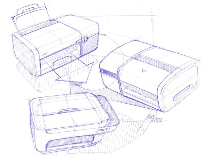 Sketch-A-Day: Daily Sketches from Industrial Designer, Spencer Nugent - Page 55.