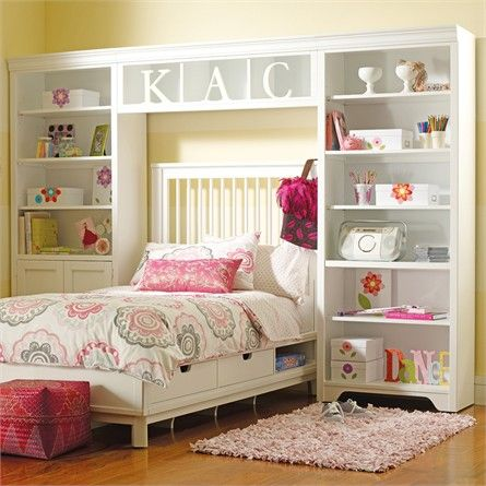 Dana Above Bed Wall Storage Unit With Doors By Young America Stanley Bookshelves S Bedroom Roomskid