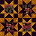 Clustered Stars Quilt Block Pattern