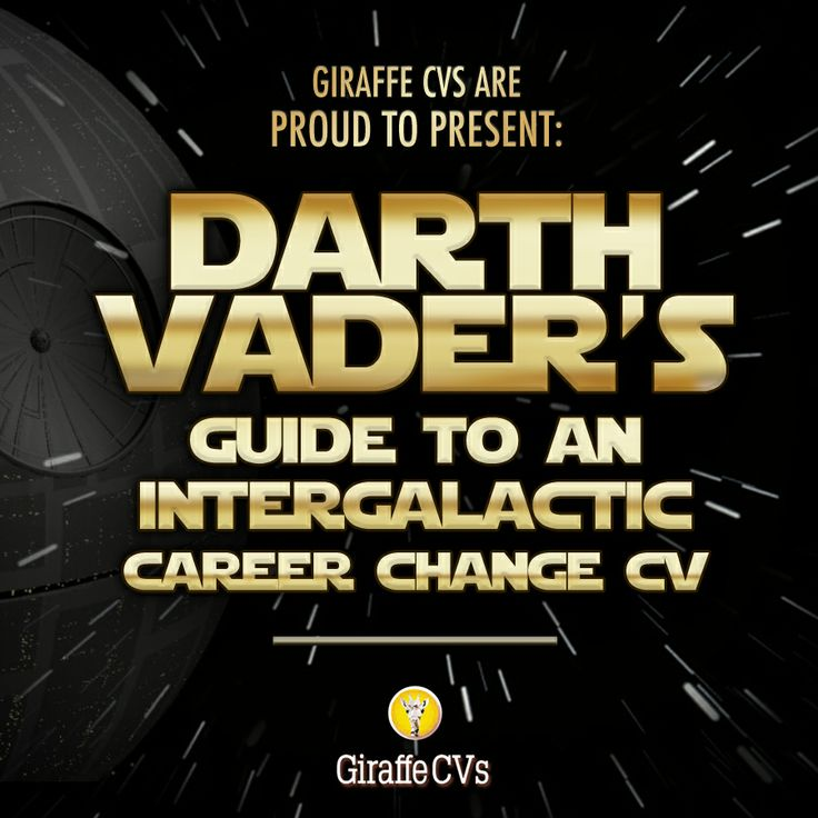 Coming soon! Our new embeddable #infographic - Darth Vader's Guide to an Intergalactic Career Change #CV.    Watch this space and may the force be with you in the meantime!