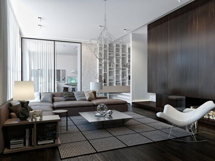 Wohnzimmer einrichten Ideen in Weiß, Schwarz und Grau #einrichten - Wohnzimmer Einrichten Grau