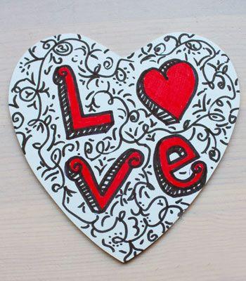 Van deze wit kartonnen onderzetters maak je zelf unieke exemplaren!  #knutselen #valentijn #moederdag