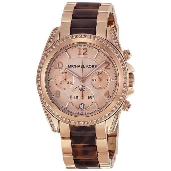 Pre-owned Brand New Michael Kors Blair Rose Gold Tone And Tortoise... (£110) ❤ liked on Polyvore featuring jewelry, watches, accessories, none, tortoise shell jewelry, pre owned jewelry, michael kors, rose gold tone watches and preowned jewelry