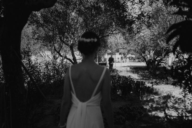 Greenery countryside wedding | First look | Greece wedding photographer