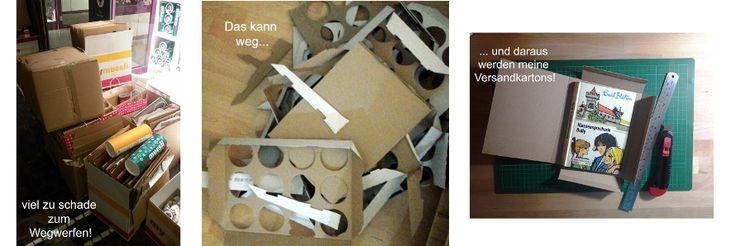 In 3 Schritten zum selbstgestalteten Versandkarton :-)
