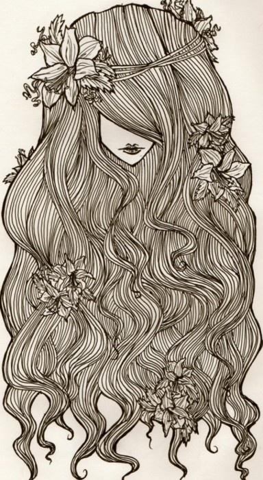 HAIR   #drawing #illustrator #illustration #art #color #paint #ilustração #arte #sketch #sketchbook #rough #wip #cartoon #draw