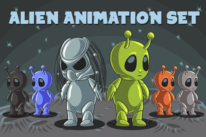 2D game alien character sprites for your next game. This character is suitable for a variety of genres from simple arcade game to a dynamic platformer.