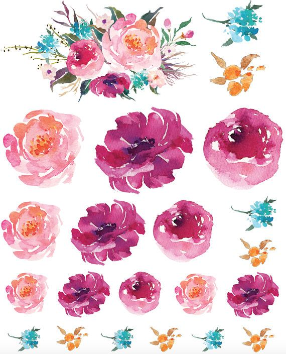 Watercolor Peony Kitchen Mixer Decals Watercolor Flowers Flower