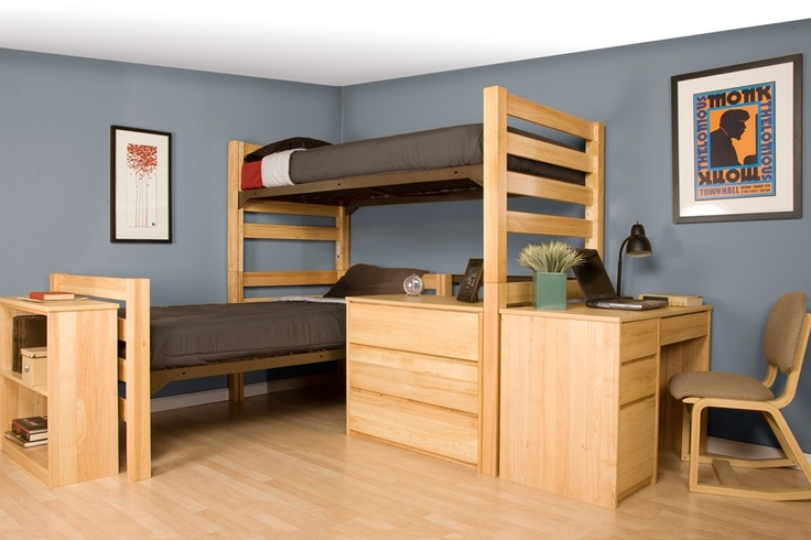 78 images about dorm room ideas for guys on pinterest loft bed plans bookshelf ladder and Bedroom furniture for college students