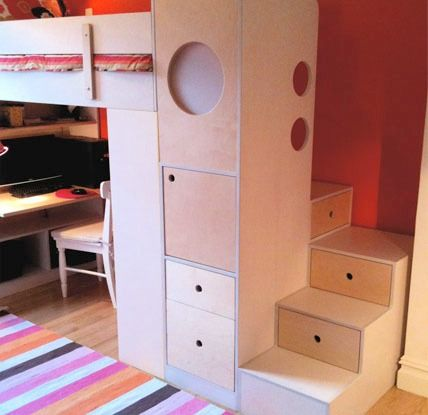 22 best images about loft bed closet stairs on for Bunk beds in closet space