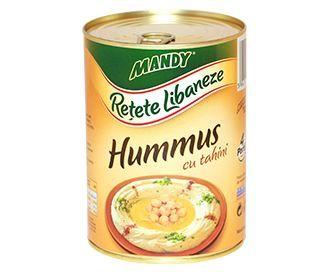 Hummus cu Tahini - Conservă easy-open, 200 g şi 400 g