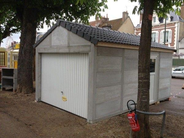prix d un garage en dur  plaque beton garage maison en