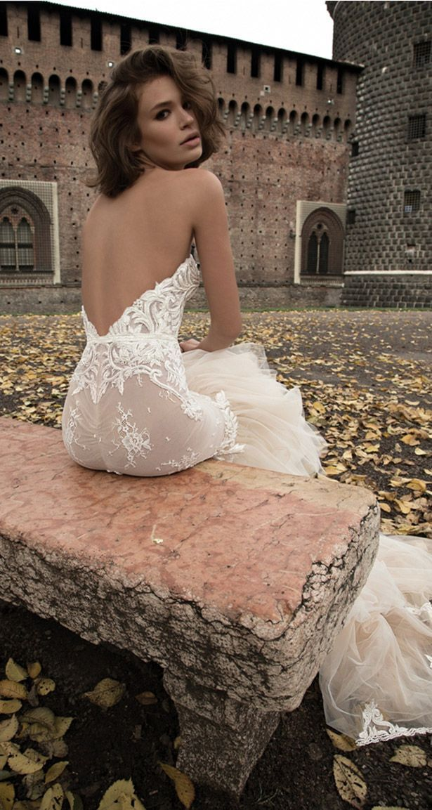 Trendy Backless wedding gown low back bride bridal perfect open back statement sexy wedding dress wanda borges