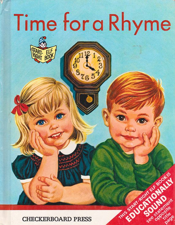 Time for a Rhyme by Ellen Wilkie, illustrated by Sharon Kane via Etsy