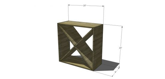 You Can Build This! Easy DIY Plans from The Design Confidential Free DIY Furniture Plans // How to Build A Cellar Winerack via @thedesconf
