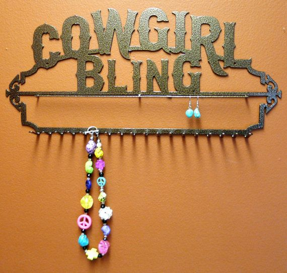 New Cowgirl Bling Heavy Duty Jewelry Holder by langleymetalworks