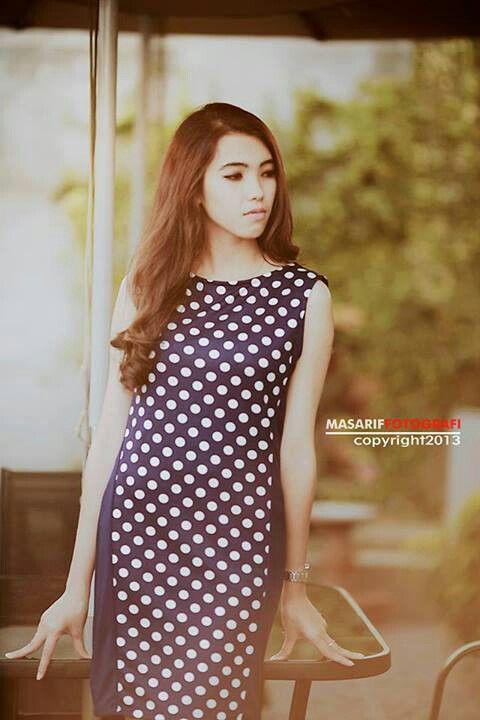 Fashion polkadot dress classy
