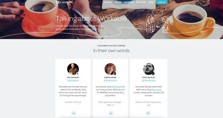 Workable #testimonials #webdesign #inspiration