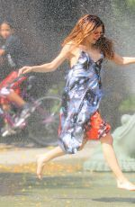 Selena Gomez was pictured as she running thru the sprinklers at a water playground http://celebs-life.com/selena-gomez-pictured-running-thru-sprinklers-water-playground/  #selenagomez
