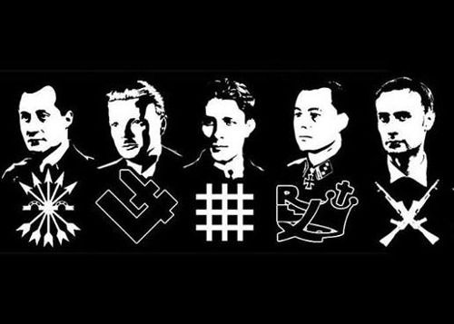 Primo de Rivera, Piasecki, Codreanu, Degrelle, Bekier.